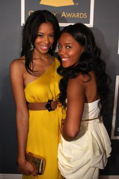 Vanessa and Angela Simmons at the 51st Annual Grammy Awards, February 2009