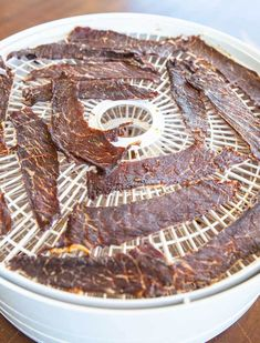 Homemade Korean-style Beef Jerky Recipe - say no to the chemicals used in beef jerky! Making your own is easy. ~ https://steamykitchen.com