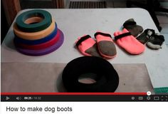 How to Sew Dog Boots...yeah totally need mom for this. My sewing skills aren't up to par with hers.