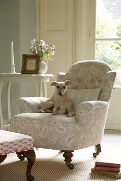 love this faded floral paisley covered chair by vanessa arbuthnott. Click through for more faded floral fabric ideas youl love Vanessa Arbuthnott, Cool Chairs, Swing Chairs, Arm Chairs, Take A Seat, Chair Fabric, Paisley Pattern, Paisley Design, Vintage Fabrics