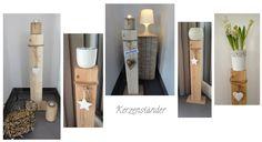 Wohnbrise: Holz Deko, Holz Kerzenständer
