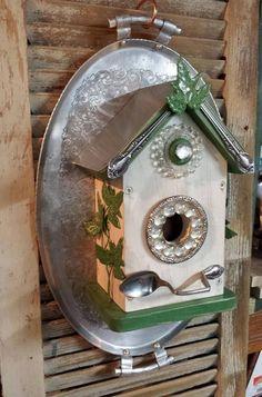 Salvage birdhouse on etsy