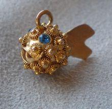 """Wonderful 14k Gold """"Puffer Fish"""" Charm for Bracelet.."""