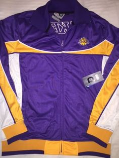 Los Angeles Lakers Zip Front Track Sport Jacket Purple yellow Xlarge Nwt  from  39.99 71e8b64ae