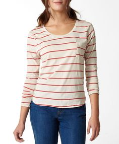 Levi's Carolina Tee - Sundown Red & Chalky White - Tops
