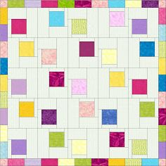 """Calamity Jane's Cottage: Measurements for """"One Charm Pack Quilt"""""""