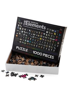 The Elements Puzzle. Based on Theodore Grays sensational, photographic book, this 1,000-piece jigsaw puzzle will become a building block of fun in your home! #multi #modcloth?ufm_campaign=pdp_share