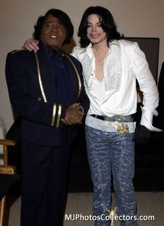 Two legends, Michael Jackson and James Brown