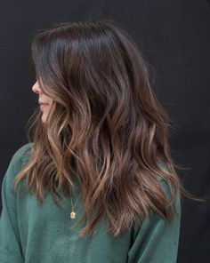 Balayage Straight, Brown Hair Balayage, Brown Hair With Highlights, Hair Color Balayage, Brown Hair Colors, Color Highlights, Brunette Highlights, Ombre Hair, Fall Hair Colors