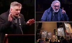 Alec Baldwin,Cher,Robert de Niro Join Thousands To Protest Against Donald Trump In NYC