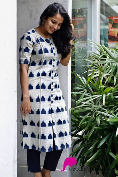 Our social Trends Salwar Designs, Printed Kurti Designs, Kurti Designs Party Wear, Kurta Designs Women, Latest Kurti Designs, Salwar Suit Neck Designs, Kurti Sleeves Design, Kurta Neck Design, Sleeves Designs For Dresses