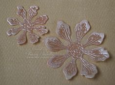 One of my favorite things to do is to try out new flower techniques. I've seen some of my card making friends create amazing embossed vel...