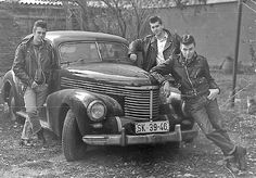 "Real Greasers of the 1950's.   I just rewatched the ""Outsiders""."
