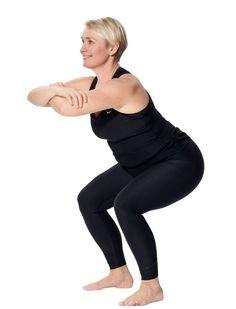 Kom i super form: Nemt træningsprogram, der kun tager 12 minutter Senior Fitness, Yoga Fitness, Health Fitness, Best Weight Loss, Weight Loss Tips, Squat Challenge, Live Fit, Phil Heath, Keep Fit
