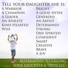 """Here are some alternatives if you want to be careful about raising """"a princess""""."""