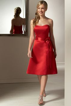 Apple Red Bridesmaid Dresses - RP Dress