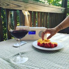 Tivoli Audio  Enjoying some deck time with the #MusicSystem3, dessert, and wine. How's your Friday night?