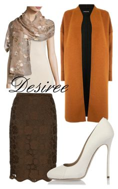 """Desiree"" by alice-durica ❤ liked on Polyvore featuring Valentino, N°21, Warehouse and Dsquared2"