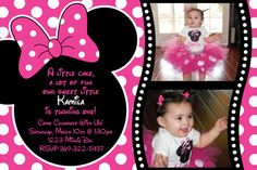 Minnie Mouse Pink Polka dot Birthday Party by HeathersCreations11