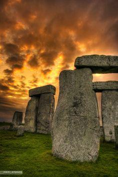 Fiery Stonehenge, Wiltshire England