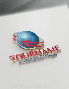 Design Free 3D Arrow Globe Logo Templates Ready made Online 3D Logo Template Decorated with an image of a globe and a wrap-around arrow. This professional 3D globe logos excellent for consulting, Global International company, High Tech, Travel agency, cargo, airline company,Natural products, eco-friendly, management etc, . How to design free logo online? 1- Customize This logo with our free logo