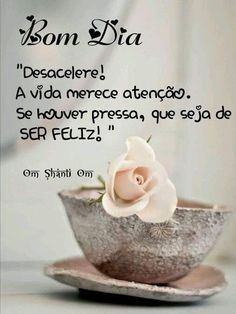 Bom Dia R Om Shanti Om, Sweetest Day, Instagram Blog, Great Words, Day For Night, Happy Sunday, Mary Kay, Good Morning, Place Card Holders