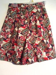 Woman's Pendleton Cotton Skirt Shorts.   Tee Time by thegroove