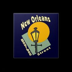 New Orleans Bourbon Symbols Tile
