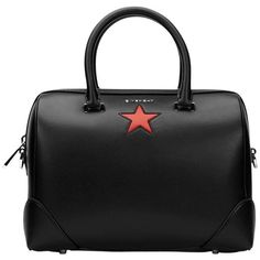 Preowned 2010s Givenchy Black Calfskin Leather Medium Lucrezia Star (5.405 BRL) ❤ liked on Polyvore featuring bags, handbags, black, totes, givenchy handbags, givenchy tote bag, tote bag, star handbag and tote purses