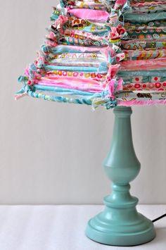 Pursewna: Fabric strip lampshade