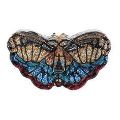 Judith Leiber Crystal Butterfly Clutch