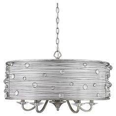 Featuring a hand-wrapped wire frame and clear glass jewels, this charming chandelier fills your home with shimmering intrigue. Let it cast a warm glow as you...