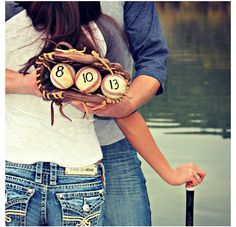 Cute save the date idea for all my baseball lovin single ladies