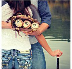 Cute save the date idea for all my baseball lovin single ladies