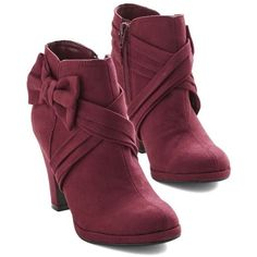 (1) Strut the Strut Bootie in Merlot ❤ liked on Polyvore featuring shoes, boots, ankle booties, short boots, ankle bootie boots, bootie boots and ankle boots