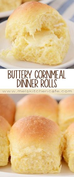 Buttery Fluffy Cornmeal Dinner Rolls The hint of cornmeal mingled with the light sweetness of the dough make these extra-fluffy, cornmeal dinner rolls one of my favorite rolls of all time! Muffins, Dinner Rolls Recipe, Quick Dinner Rolls, Sourdough Dinner Rolls, Quick Bread Rolls, Biscuit Bread, Bread Bun, Le Diner, Croissants