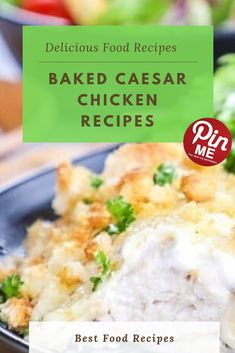 Baked Caesar Chicken Recipes  This baked caesar chicken tastes nearly too delicious to be so easy to make! Caesar chicken has this kind of conventional taste, it truely is going nicely with an expansion of side dishes. You could choose one, or go together with some to make a definitely filling meal. Here are some of our favorite pairings.  #easycrockpotmeals #crockpotchicken #crockpotchickenrecipes #BestFood Chicken Meals, Chicken Salad Recipes, Good Food, Yummy Food, Delish, Side Dishes, Baking, Ethnic Recipes, Easy