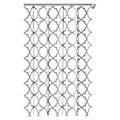 Echelon Home Quatrefoil Shower Curtain | AllModern