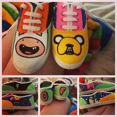 Zapatillas, zapatos de Hora de aventura.