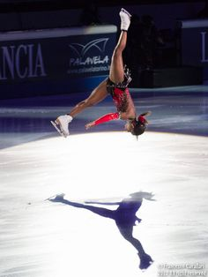 Surya Bonaly - A professional ice-skater from France who is the only olympic athlete that can do a back air flip on ice and land on one foot.