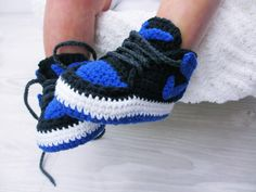 Crochet Baby Sneakers J Basketball Air Handmade Boys Girls Newborn Knit Yellow