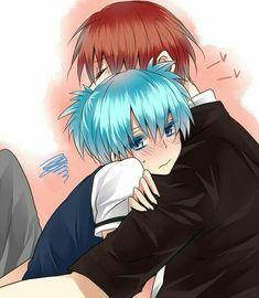 This has to be the most cute and adorable thing I've ever seen Blue Hair Anime Boy, Koro Sensei, Nagisa And Karma, Nagisa Shiota, Fairy Tail Art, Attack On Titan Anime, Shounen Ai, Ship Art, Anime Ships
