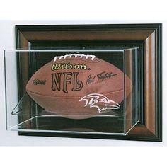 Baltimore Ravens NFL Case-Up Football Display Case (Horizontal) (Cherry)