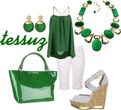 Green with Envy, created by tessuz on Polyvore