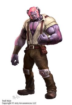 Tales of Arcana, Troll Male by MiguelRegodon.deviantart.com on @DeviantArt