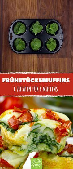 Die sind schnell gemacht und sorgen für ein leichtes aber herzhaftes Frühstück!  #leckerschmecker #rezept #ei #omelett #eiweiß #tomate #spinat #kochen #backen #gesund #leicht #schnell #einfach #vegetarisch #frühstück #morgen #essen #mahlzeit #muffin #muffinform