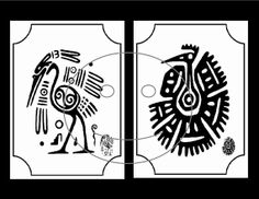 Art Print Aztec style black and white wall card by GloriousTymes, $1.50 Necklace Display, Jewellery Display, Aztec Style, Decoupage Art, Background Vintage, Collage Sheet, Ephemera, My Arts, Art Prints