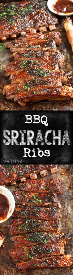 SO flavorful - savory, sweet, zesty, amazing! Fall-off-the-bone tender. You'll never look back. #bbq #ribs #recipe #Bbqribs