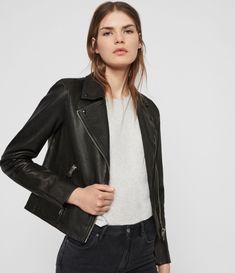 AllSaints Dalby Leather Biker Jacket - Source by lauraberruezo - Coats For Women, Jackets For Women, Clothes For Women, Leather Jacket Outfits, Leather Jackets, Outerwear Jackets, Fall Outfits, Mac, Womens Fashion