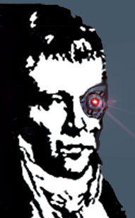 El logo de mi uni editado con un ojo laser y en mayor calidad! x'D